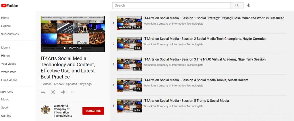 Social Media Playlist - YouTube